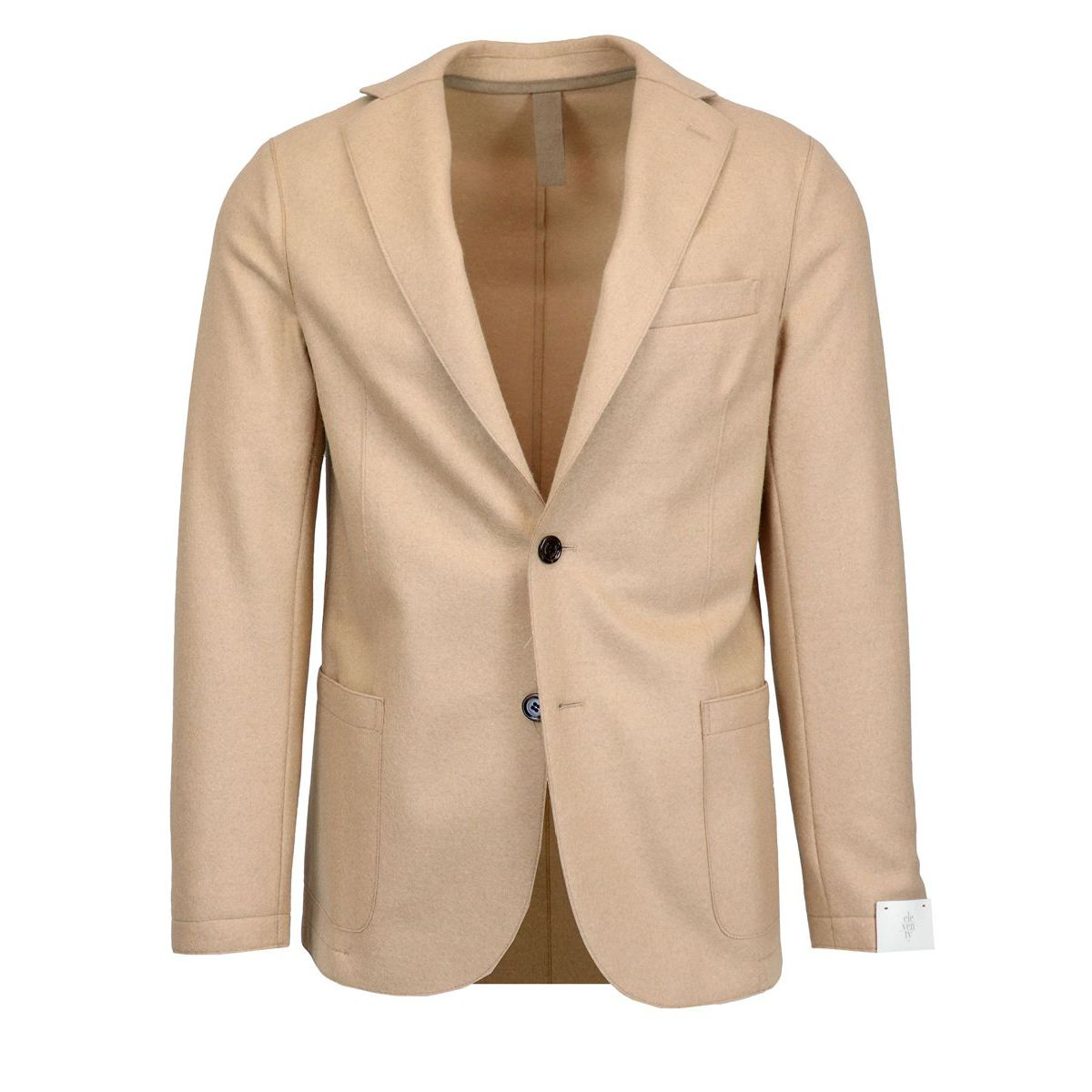 Slim wool blend jacket with patch pockets Camel Eleventy