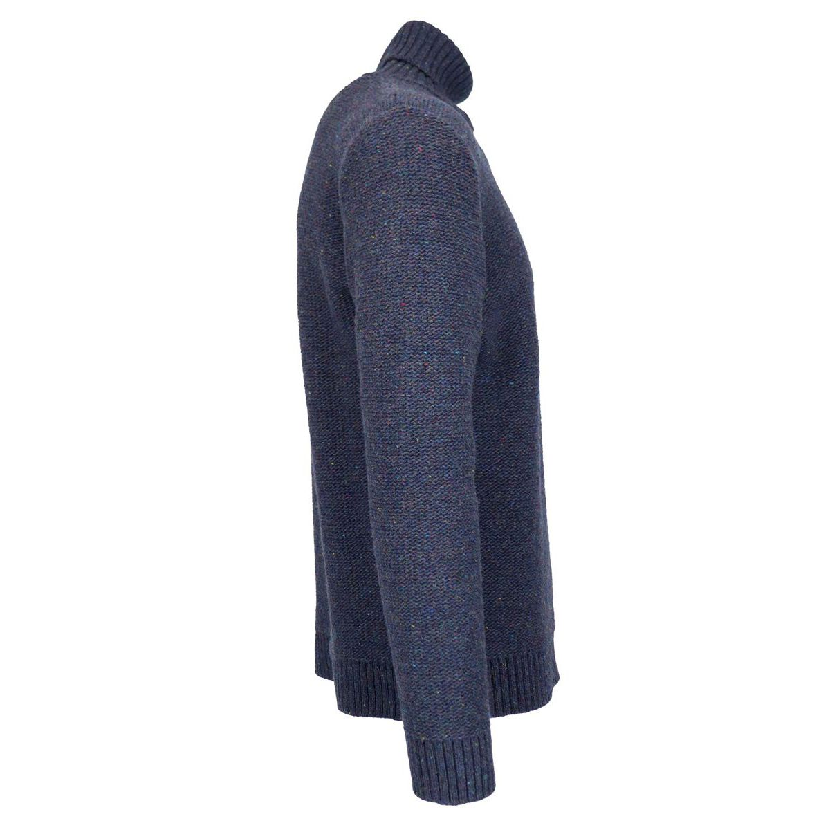 Mohair turtleneck with ribbed profiles Blue Eleventy