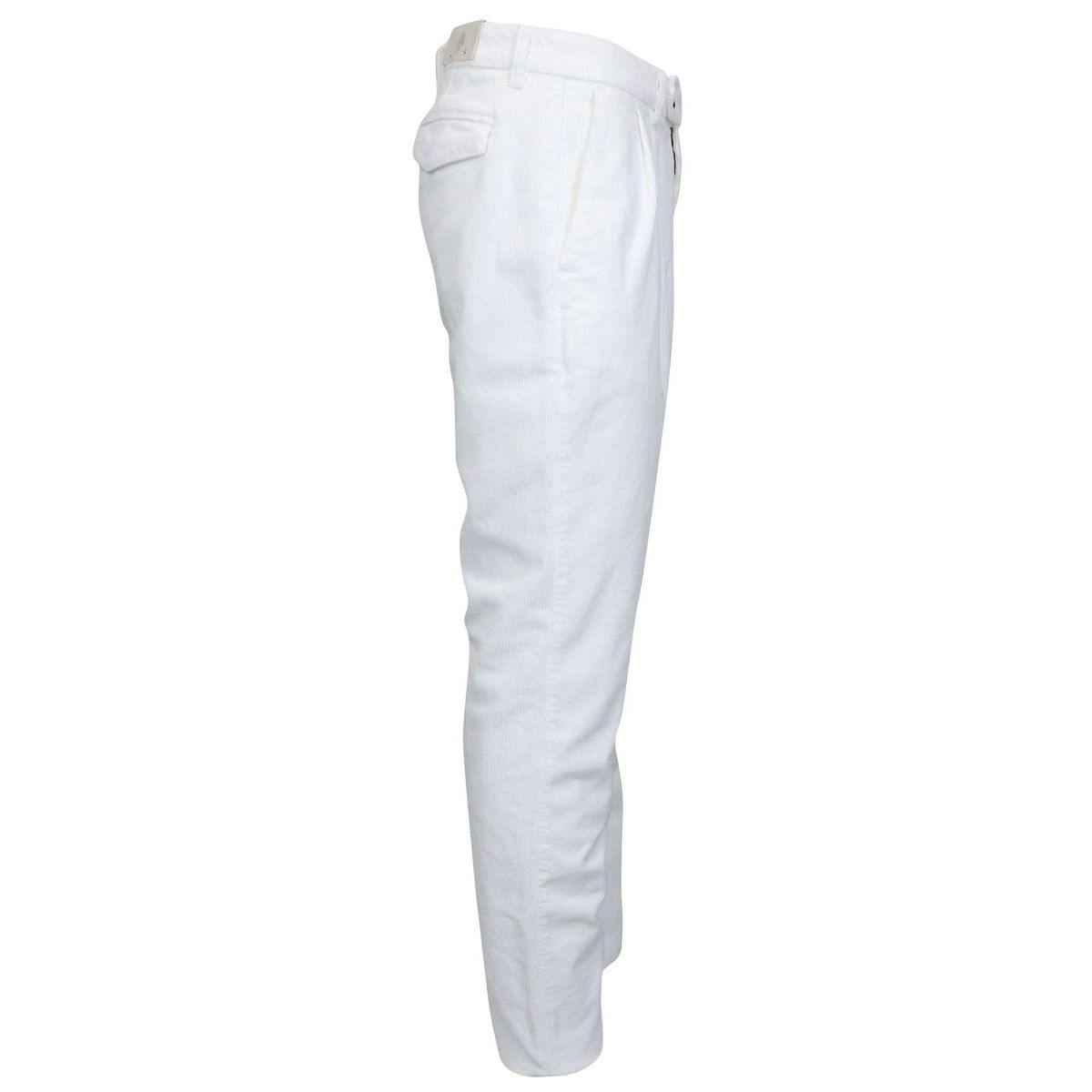 Corduroy trousers with pleats White Eleventy