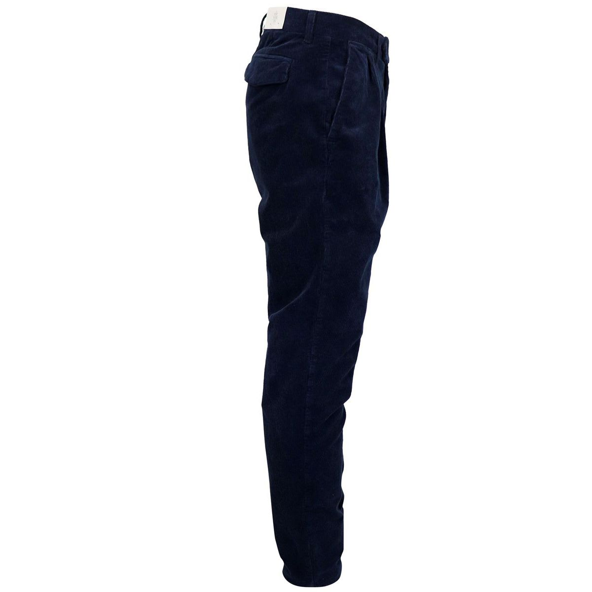 Corduroy trousers with pleats Blue Eleventy