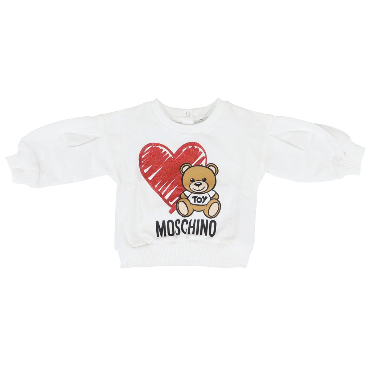 2-piece sweater and trouser suit White red Moschino