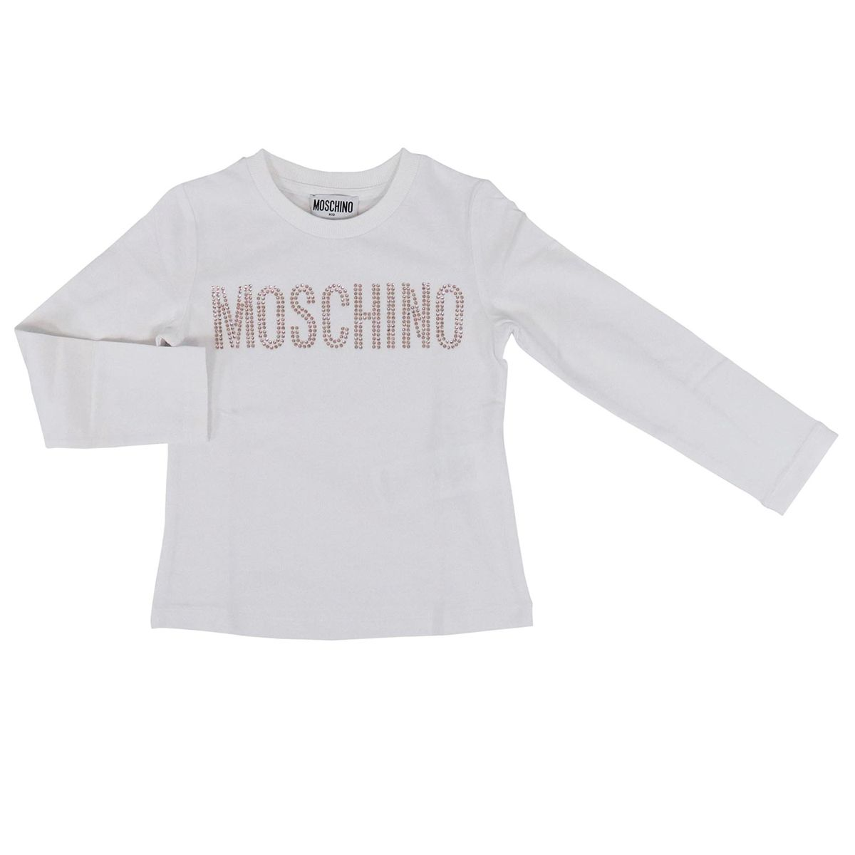 Logo print long sleeves sweater White Moschino