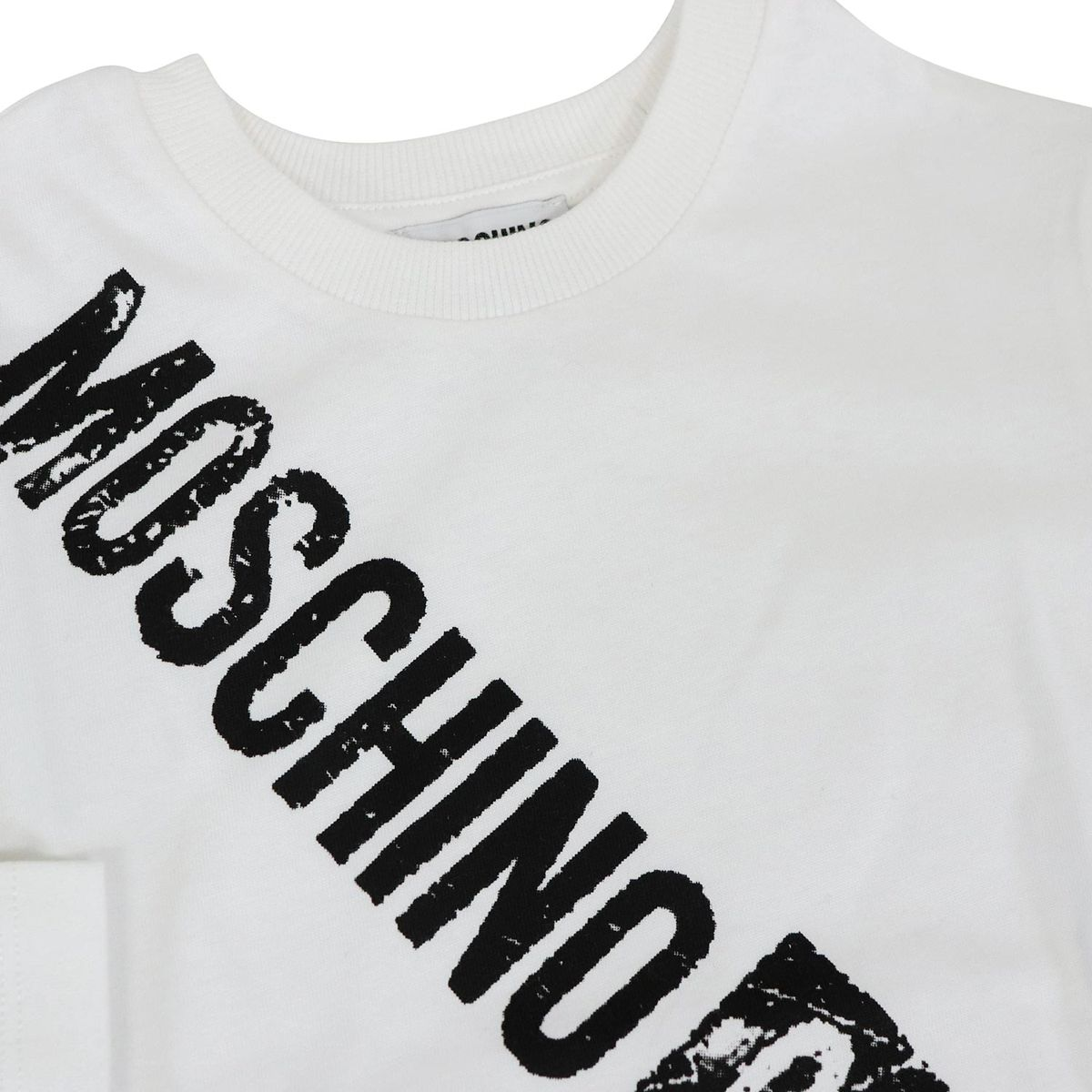 Couture print long sleeve sweater White Moschino