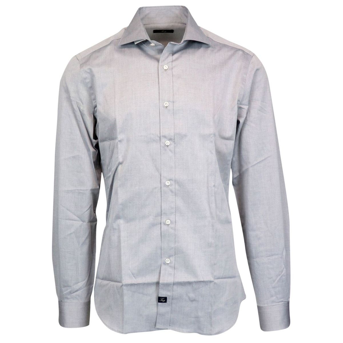 French collar slim shirt Grey Fay