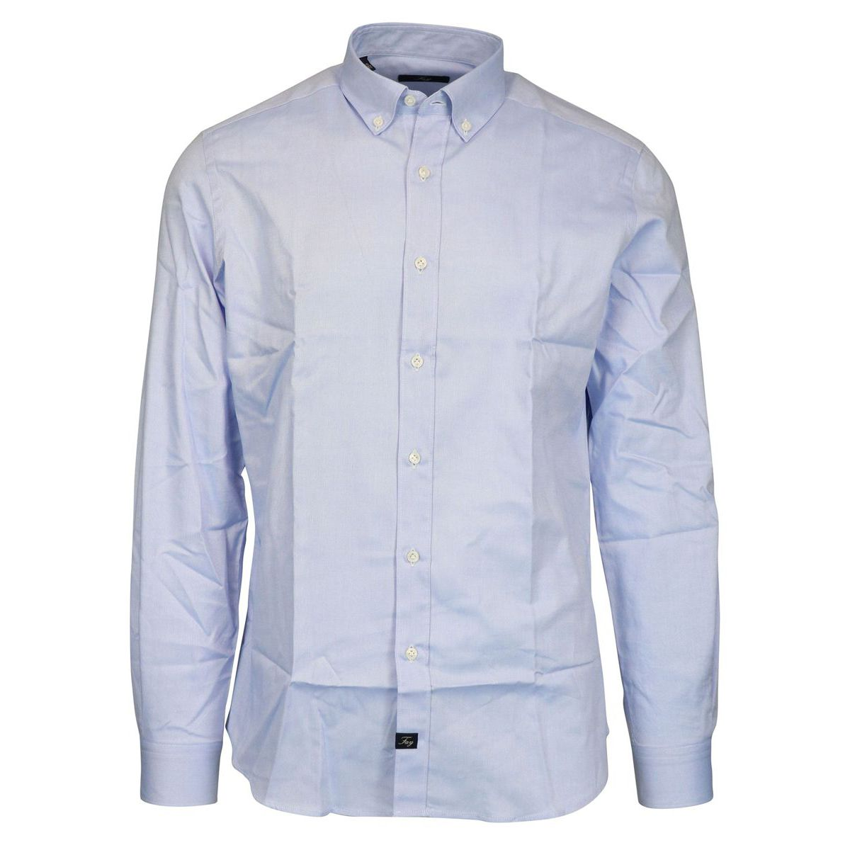 Slim button down shirt in cotton Heavenly Fay