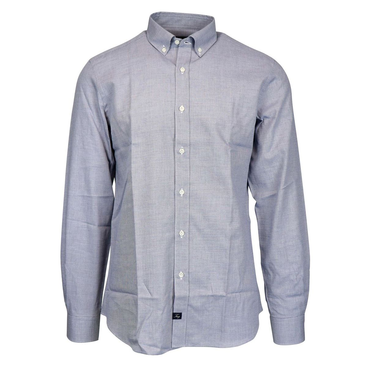 Slim button down shirt in cotton Light blue Fay