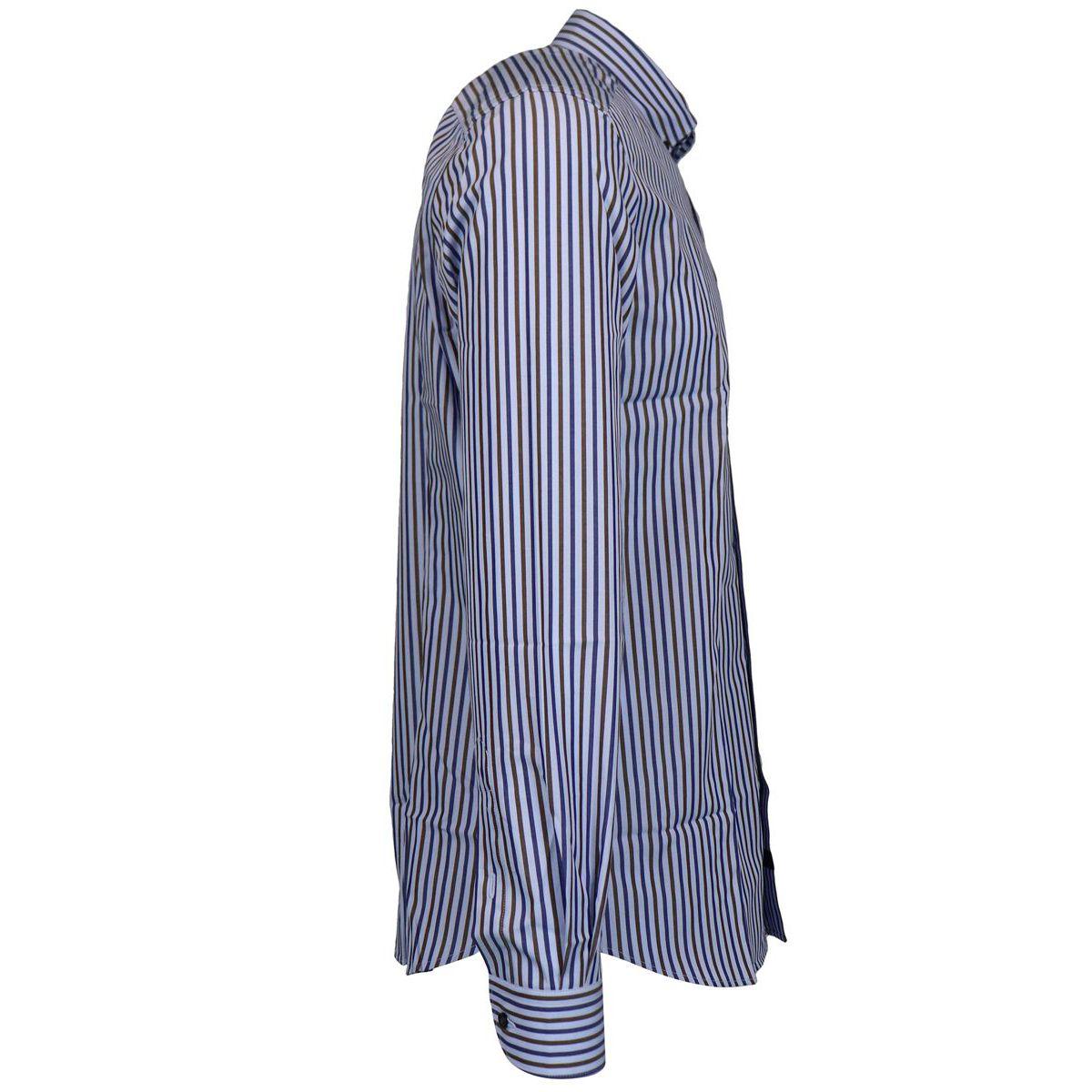 Striped button down cotton slim shirt Heavenly Fay