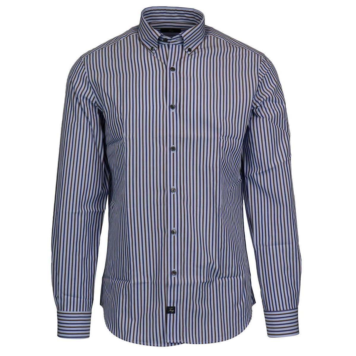 Striped button down cotton slim shirt Heavenly Fay