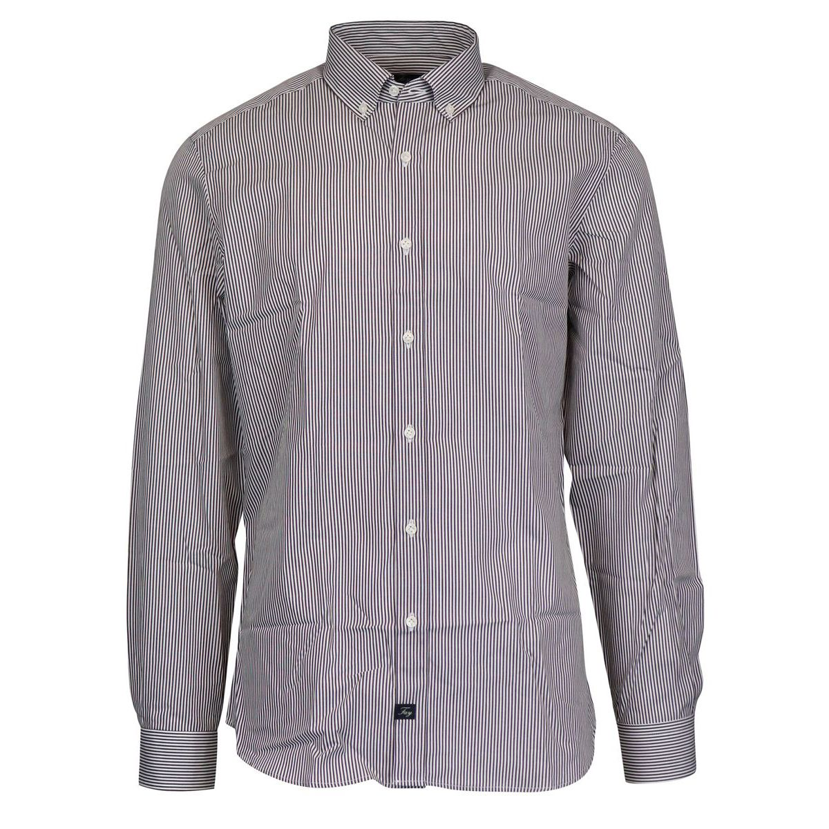 Slim striped button down cotton shirt Moro Fay