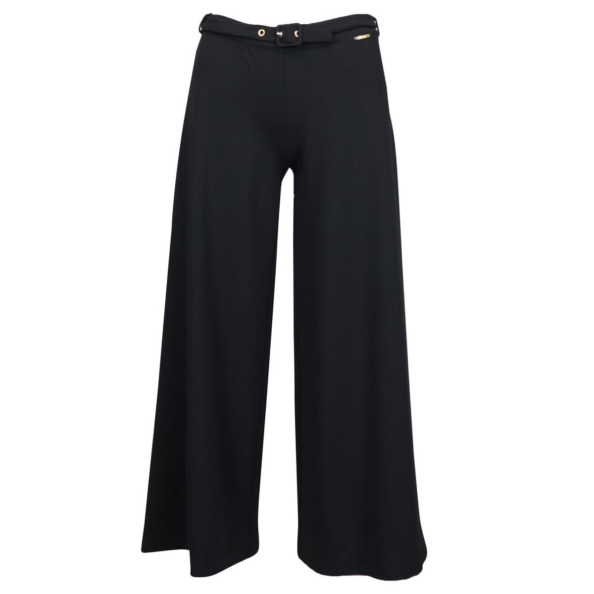 Palazzo pants in Milan stitch with belt Black Twin-Set