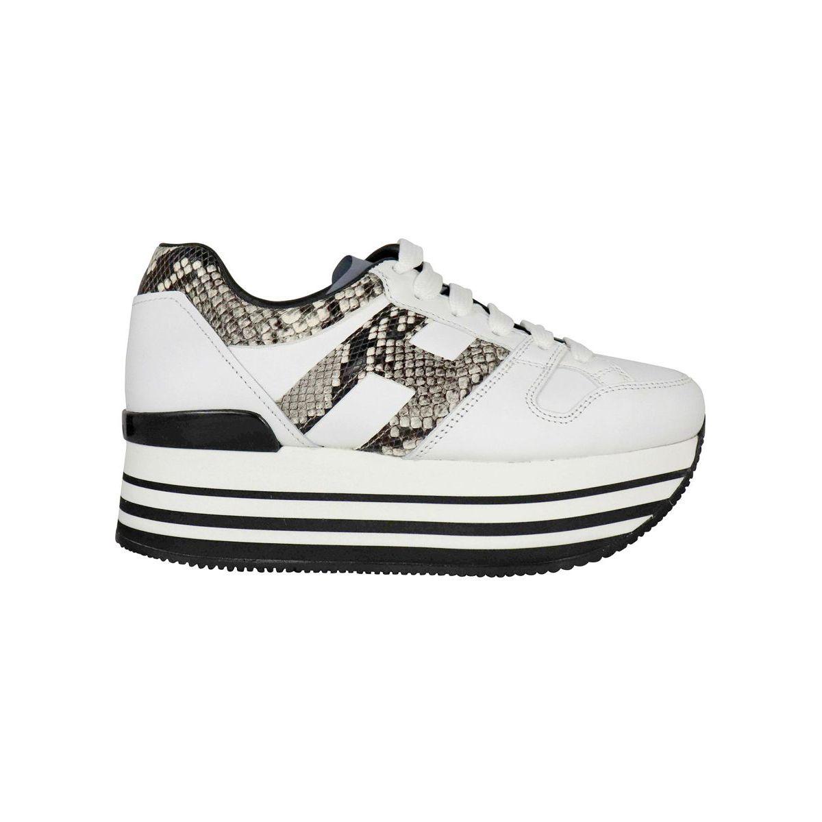 bianco Hogan Scarpe Sneakers In Pelle H283 Maxi 222