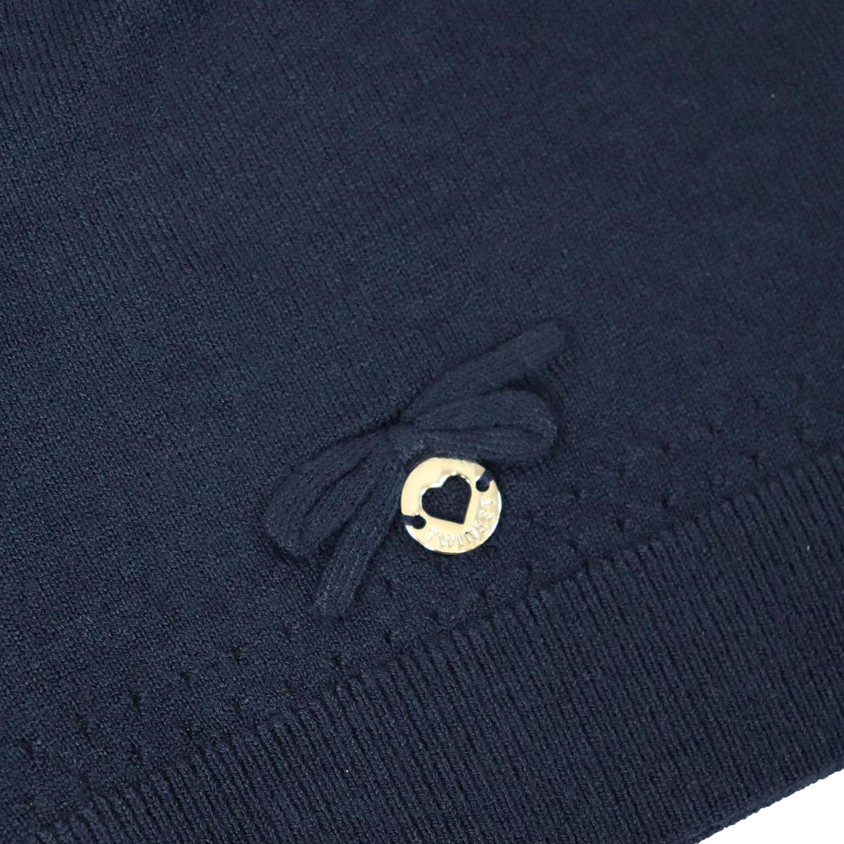 Viscose cap with bow Blue Twin-Set