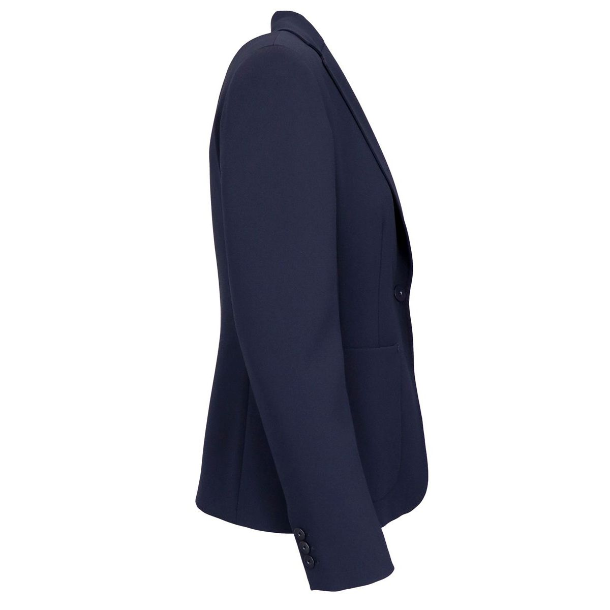 VAND crepe jacket with patch pocket Blue Max Mara