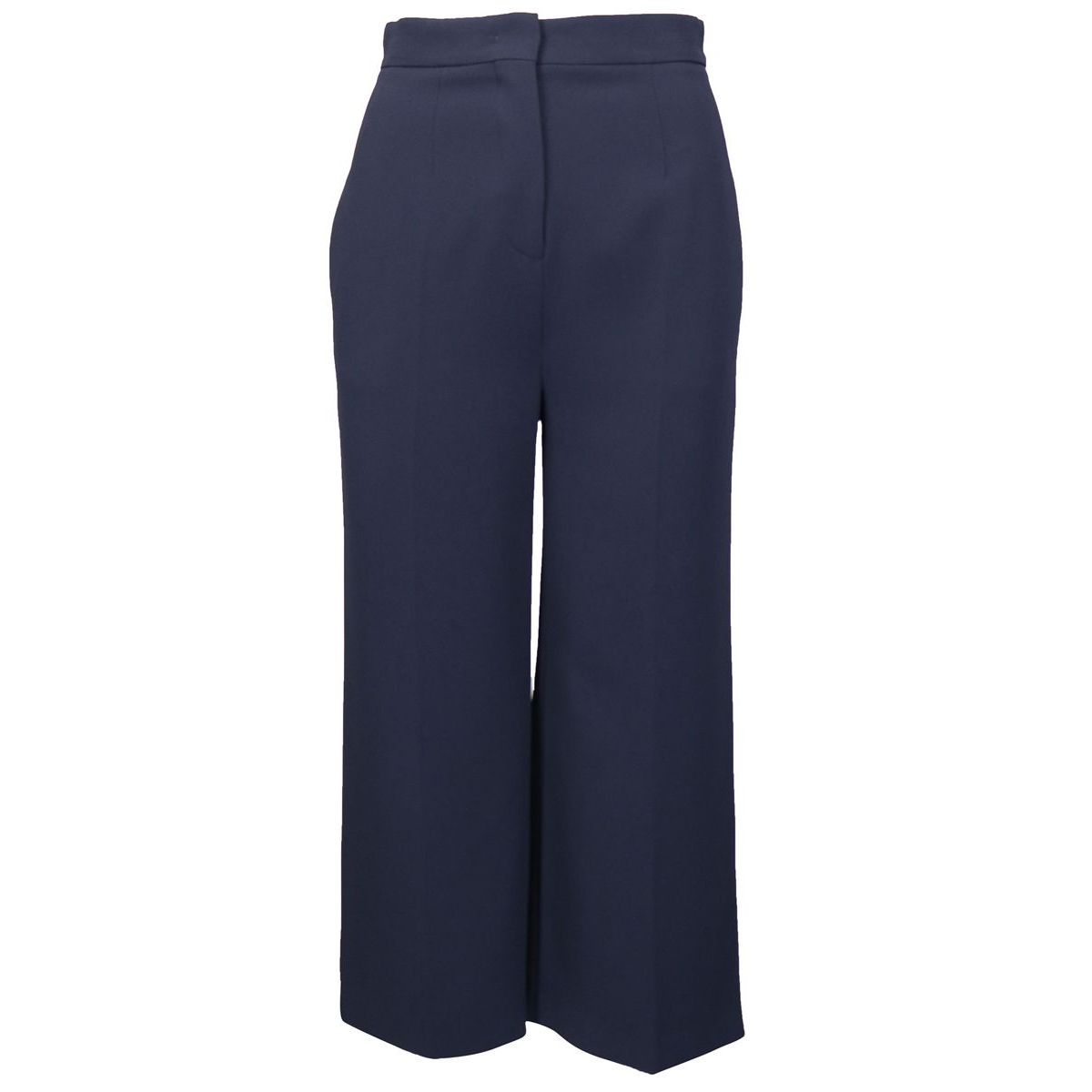 Wide crepe trousers with pleats Blue Max Mara