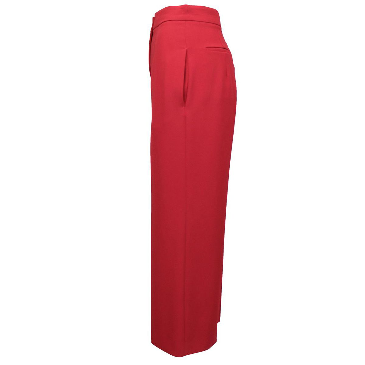 Wide crepe trousers with pleats Brick Max Mara
