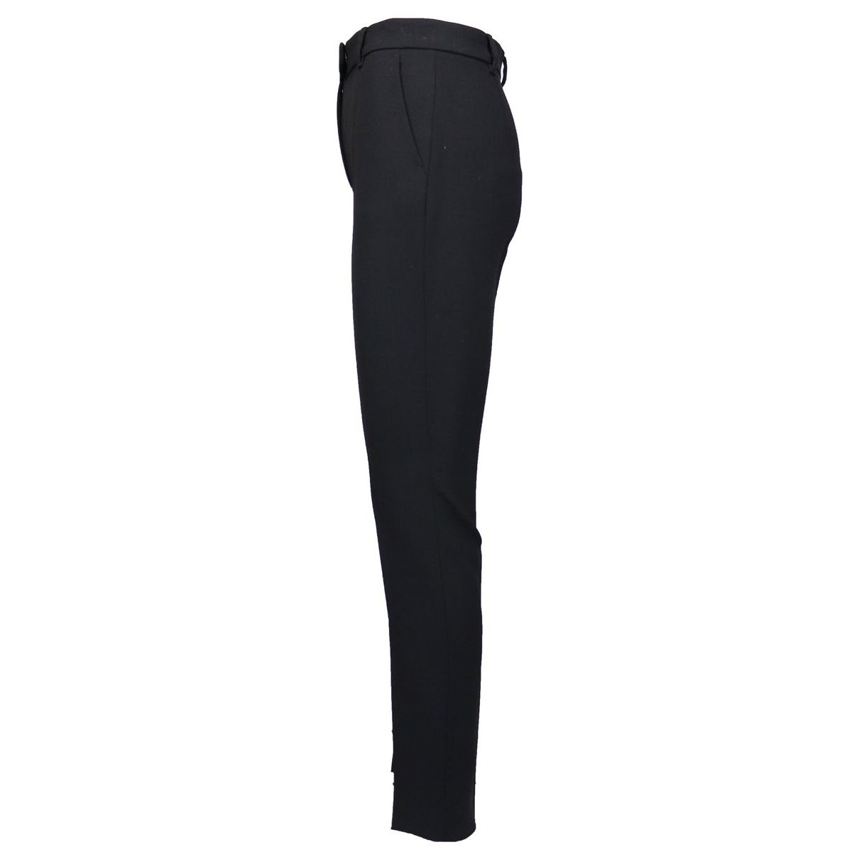 Cigarette trousers in stretch virgin wool with pressed fold Black Max Mara