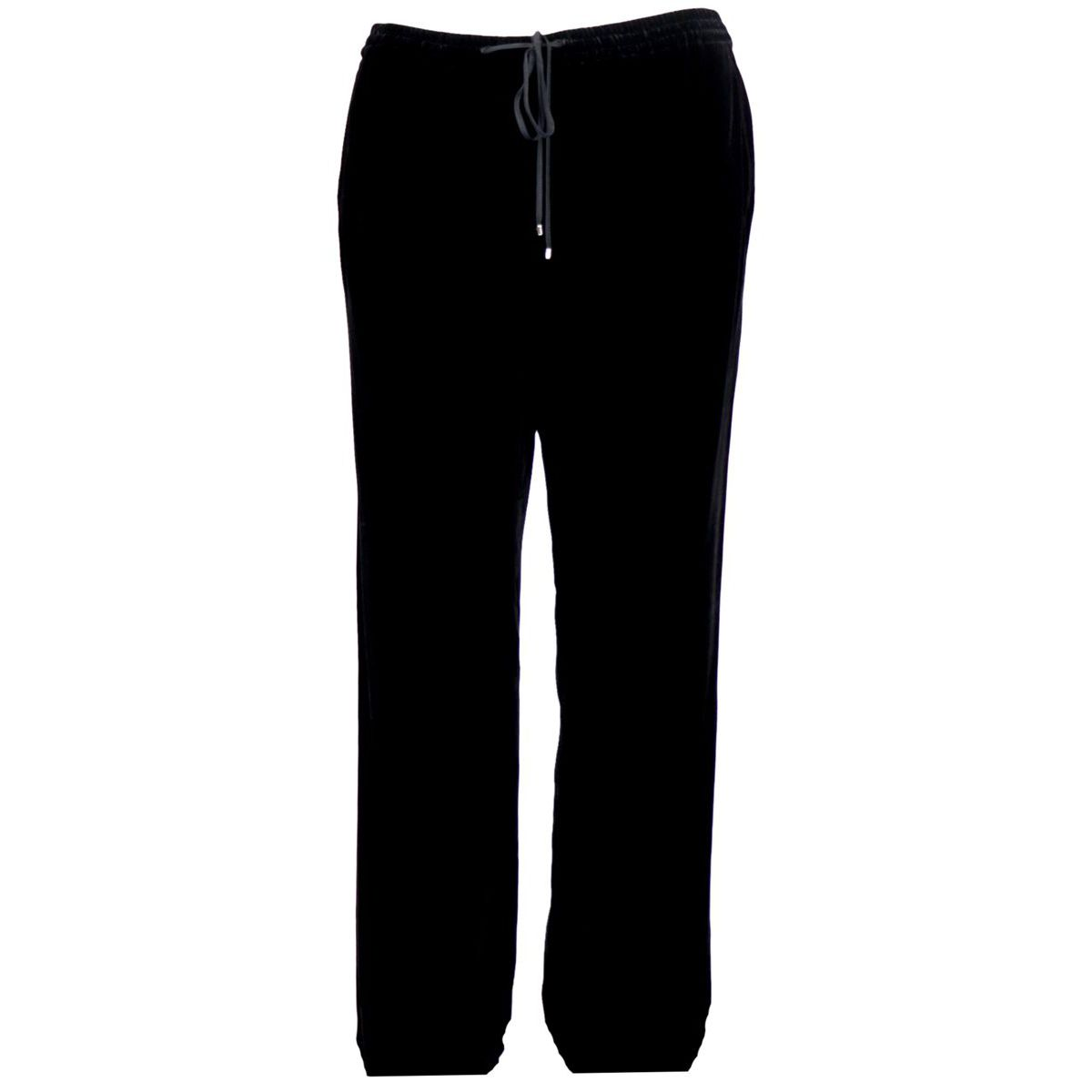 GLASS trousers in silk blend with drawstring Black Max Mara