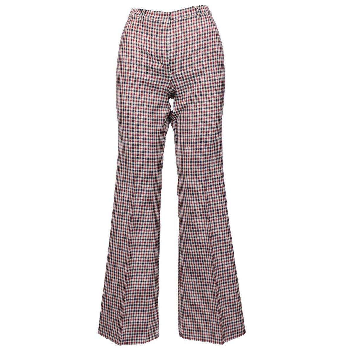 SORAIA stretch trousers Blue / burgundy Max Mara