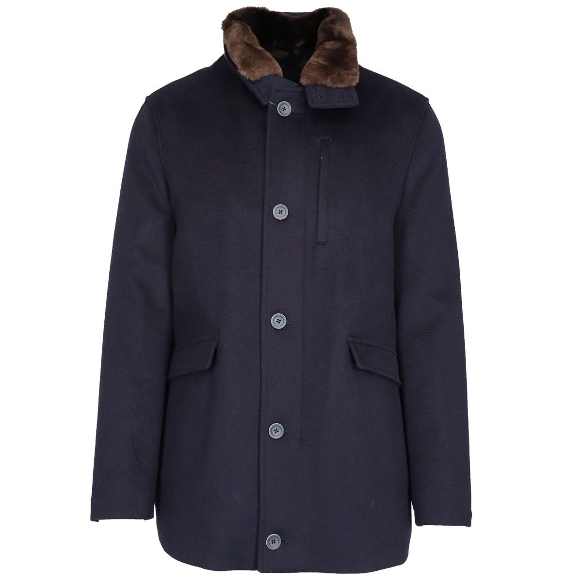 Waterproof cashmere jacket Navy Herno