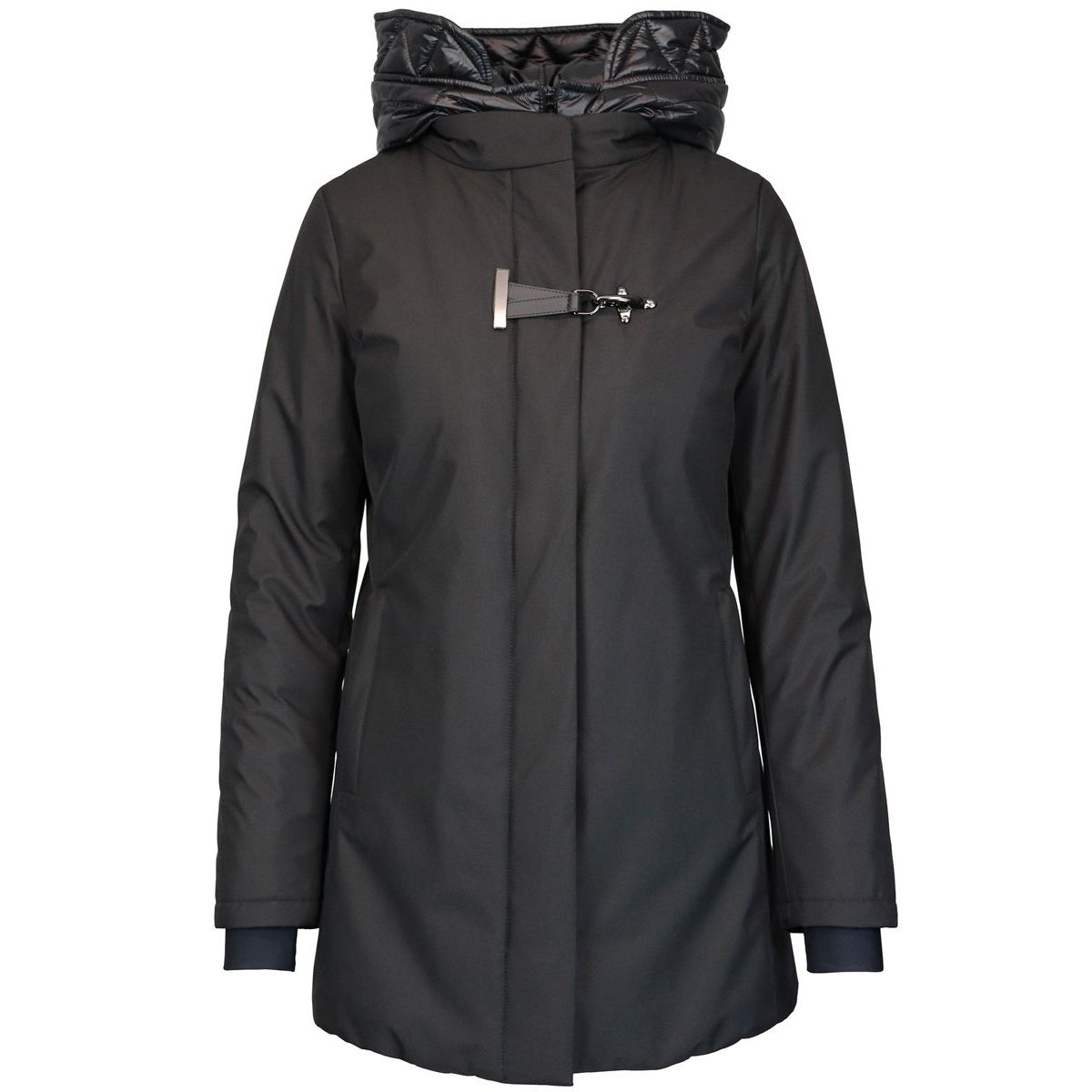 HEROES DOUBLE FRONT parka with detachable inserts Black Fay