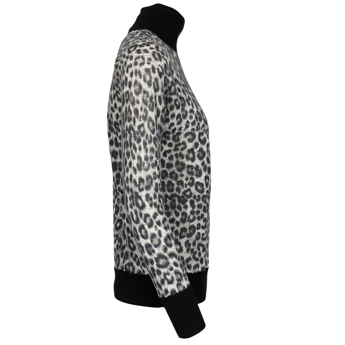Turtleneck in viscose blend with animal print Animal print Michael Kors