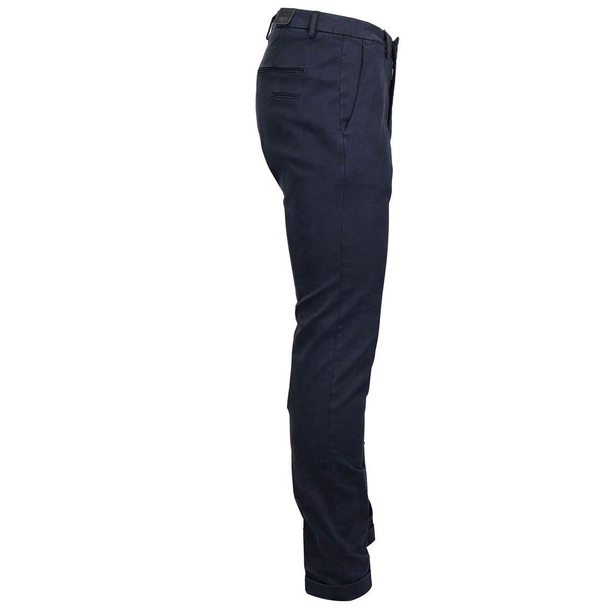 America slim pocket trousers in cotton and modal Blue Briglia