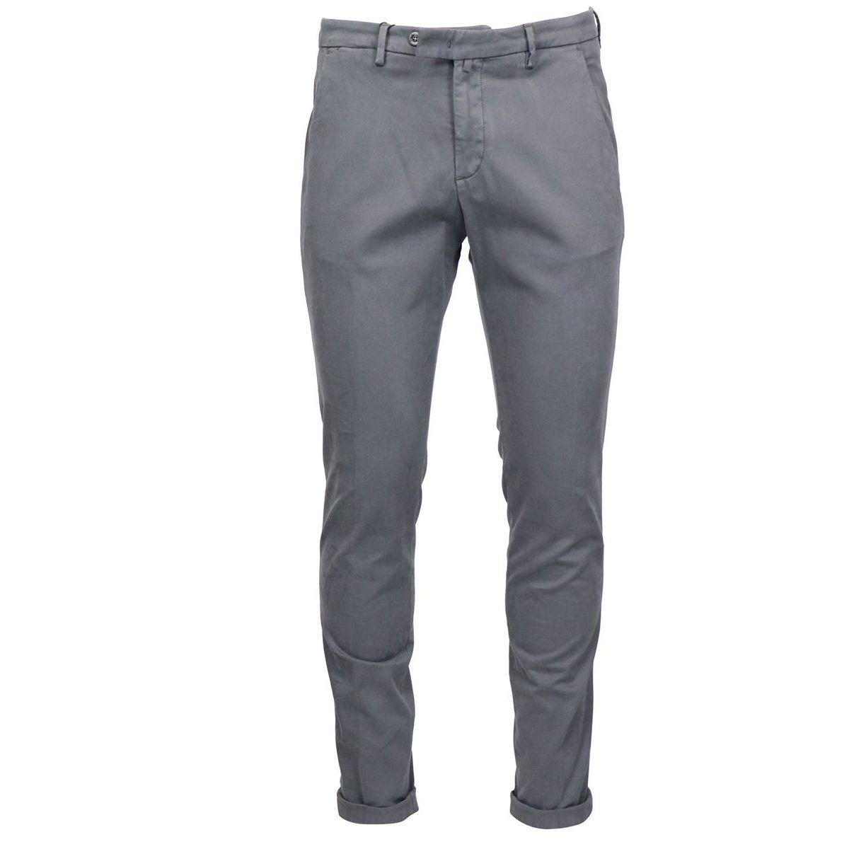 America slim pocket trousers in cotton and modal Grey Briglia