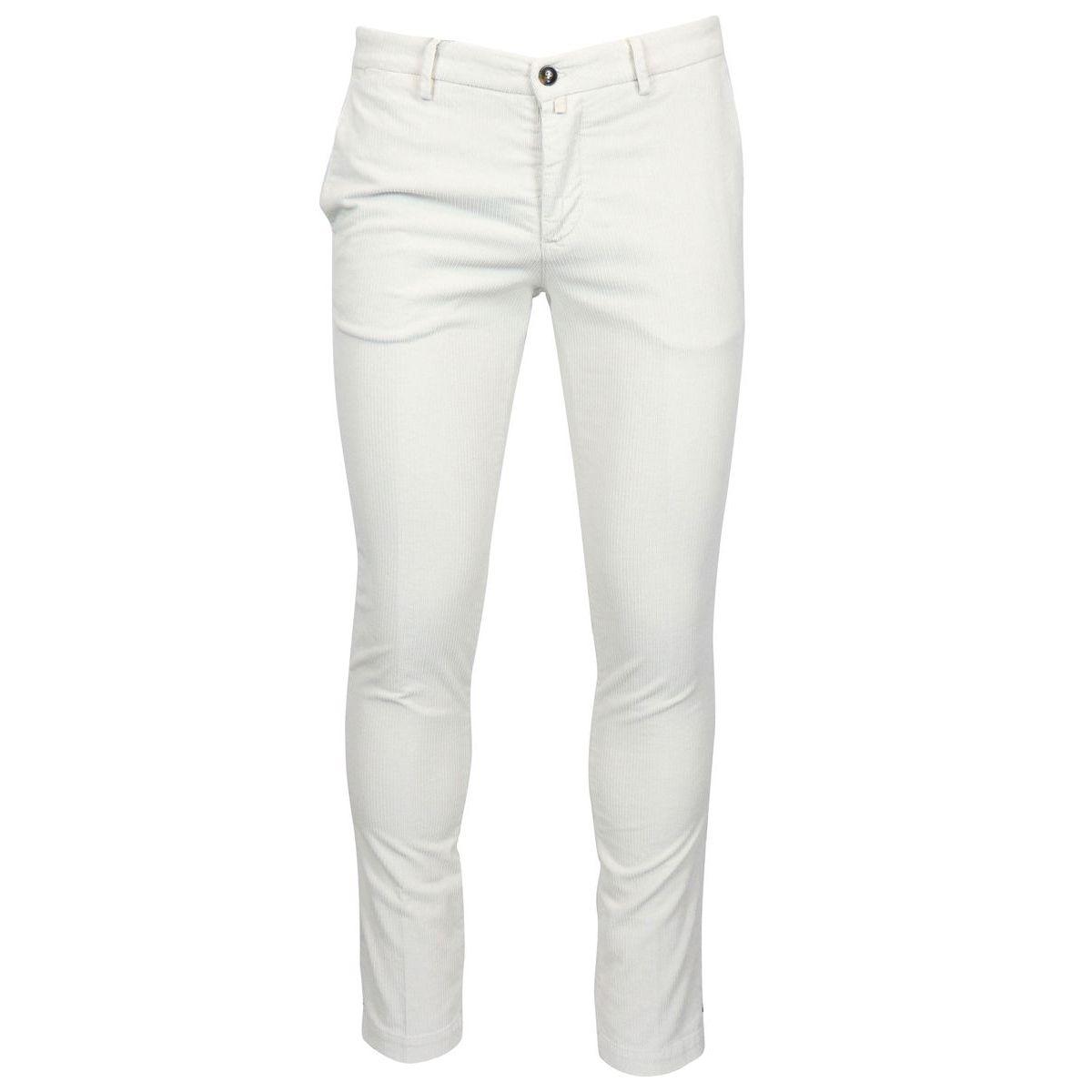Briglia Pantalone Uomo Velluto Bianco