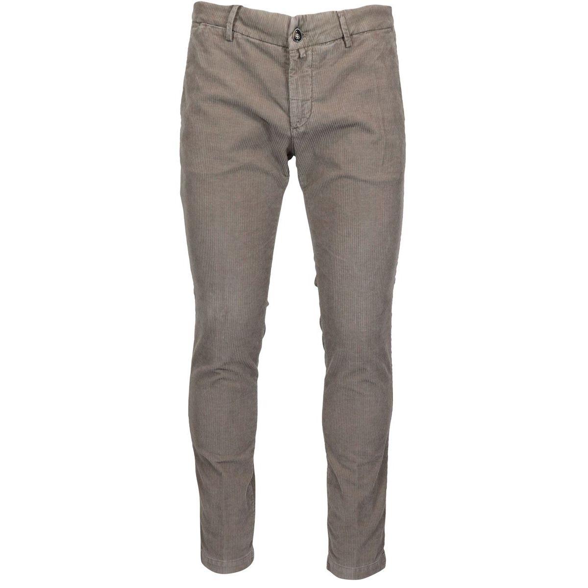 America pocket slim corduroy trousers Tortora Briglia