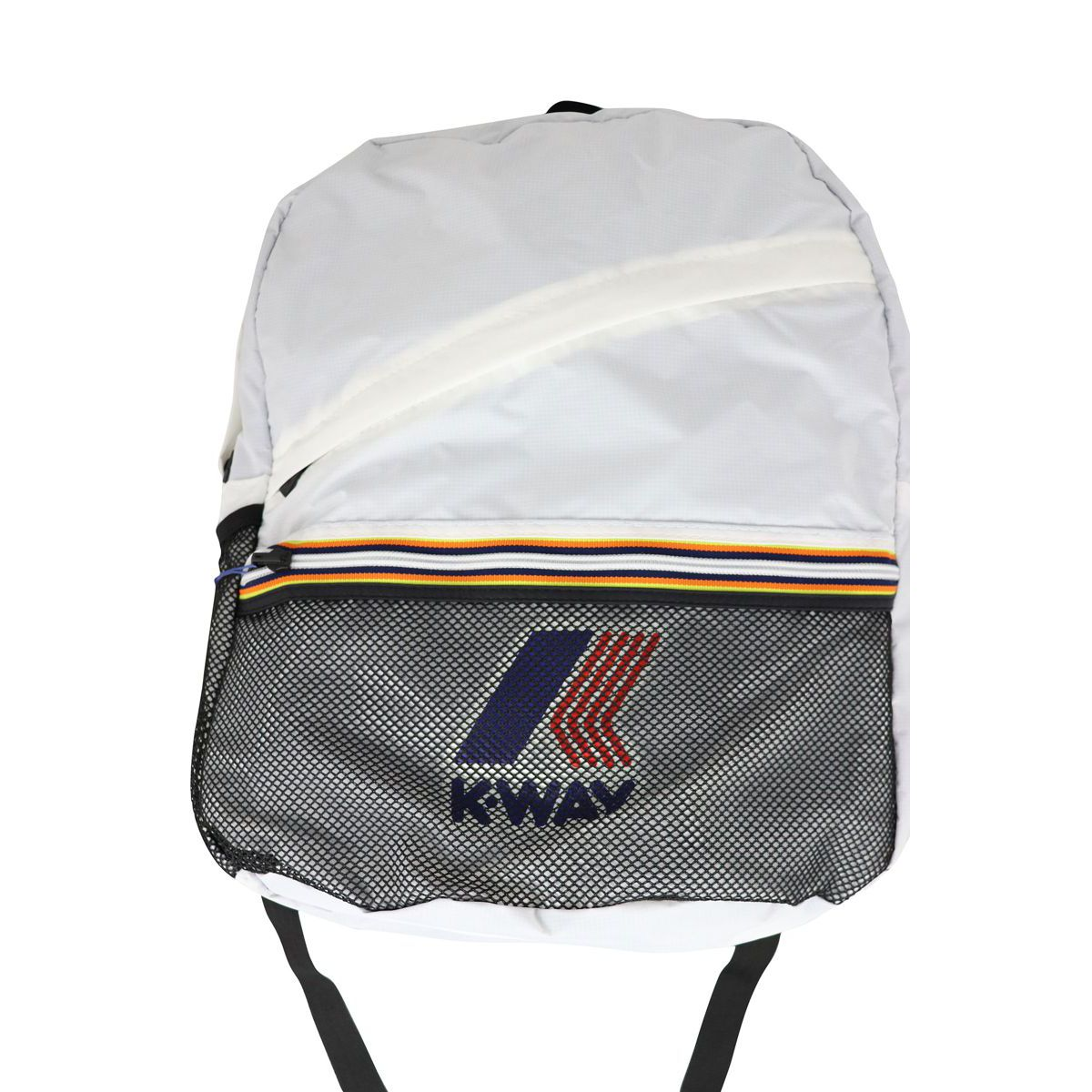 LE VRAI resealable backpack White K-Way
