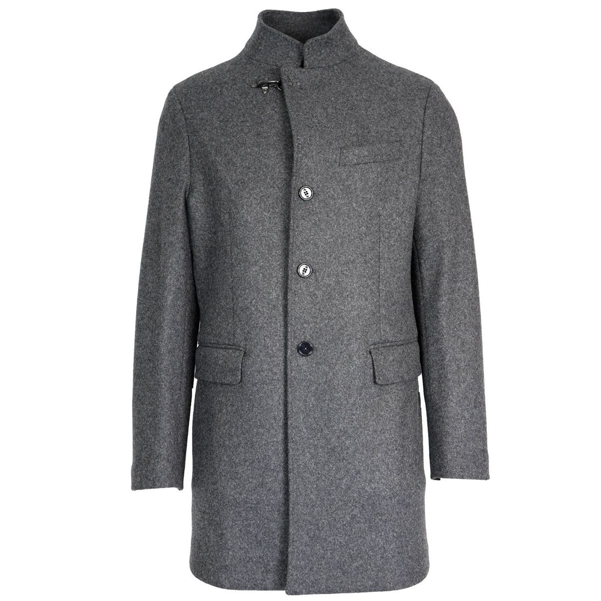 Wool cloth coat with iconic hook Grey Fay