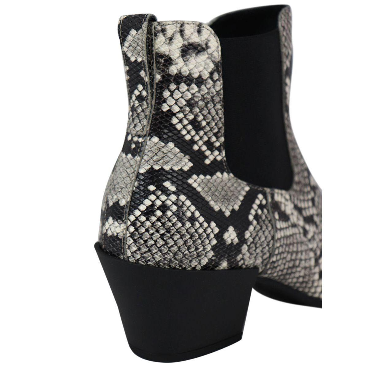 H401 python ankle boot with Texan heel Python Hogan