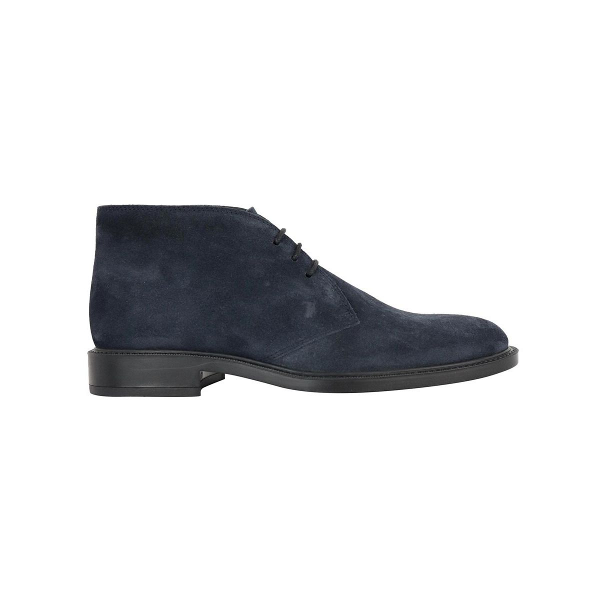 Ankle boot in suede with rubber bottom Blue Tod's