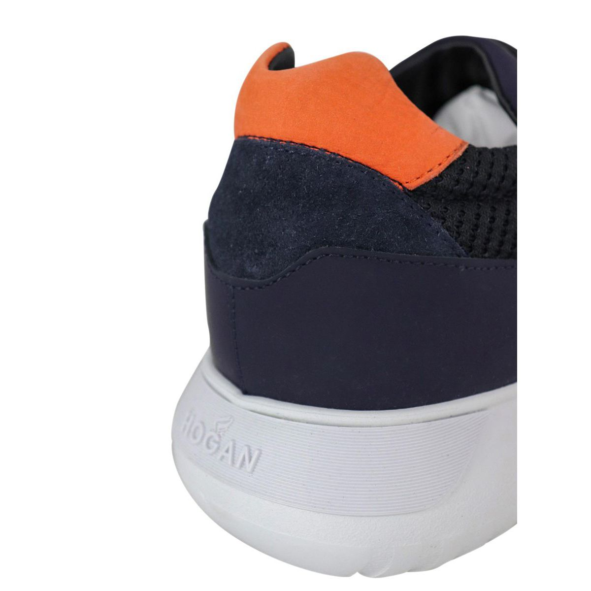 Interactive sneakers 3 in suede and net bottom 371 Blue Hogan