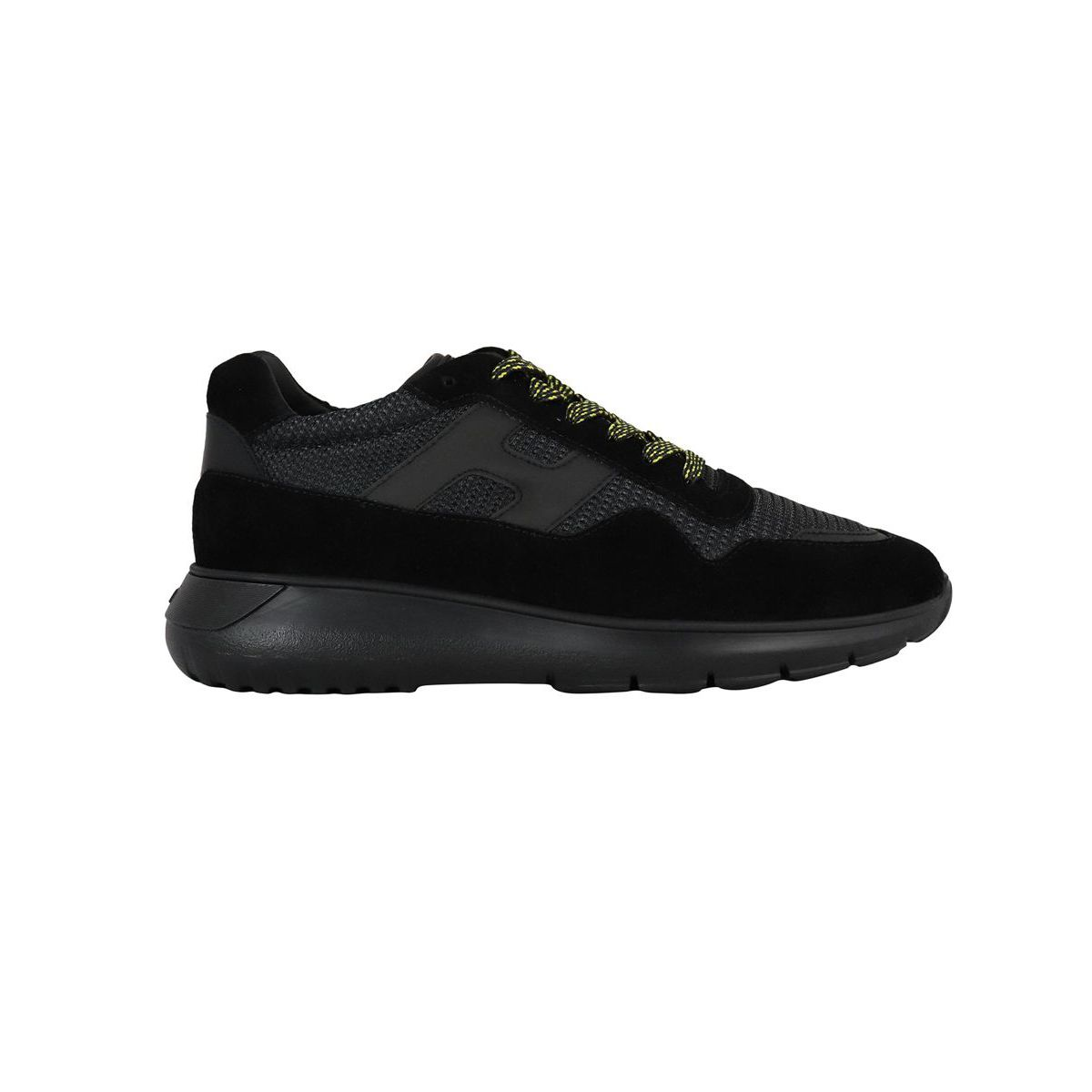 Interactive sneakers 3 in suede leather bottom 371 Black Hogan