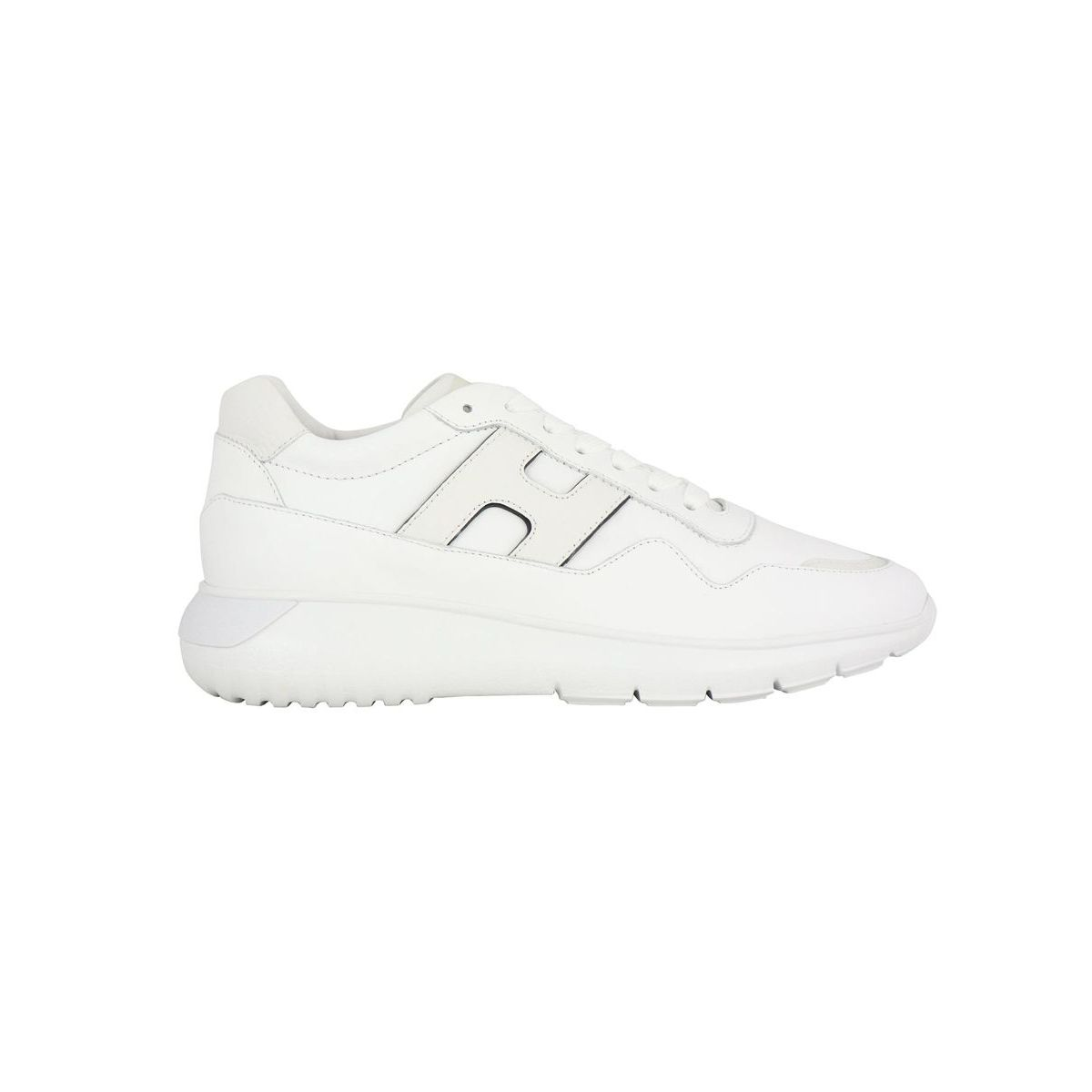Interactive 3 sneakers in smooth leather bottom 371 White Hogan