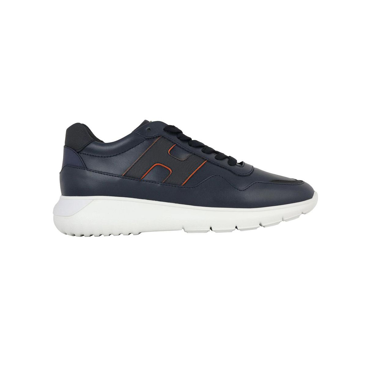 Interactive 3 sneakers in smooth leather bottom 371 Blue Hogan