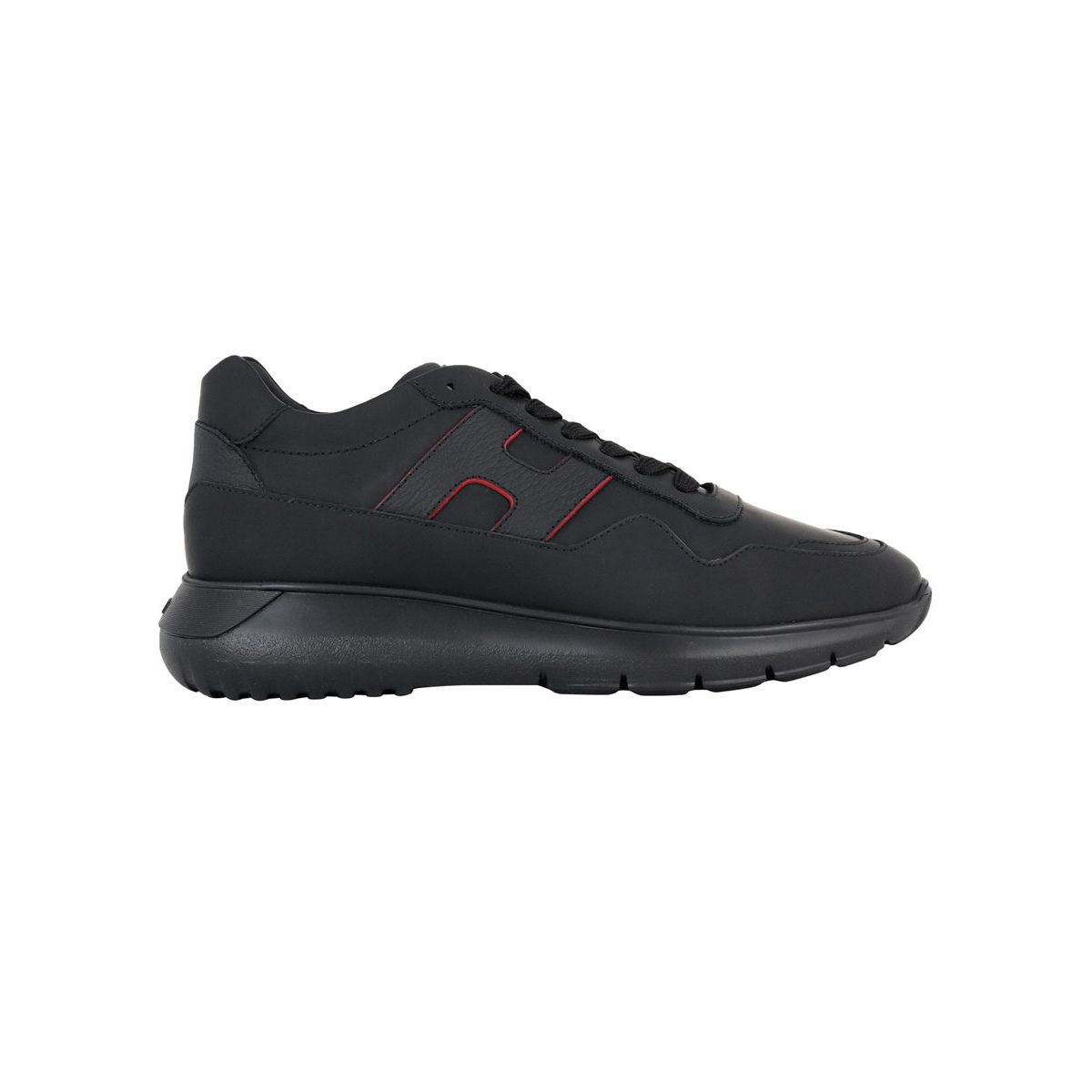 Interactive sneakers 3 in leather bottom 371 Black Hogan