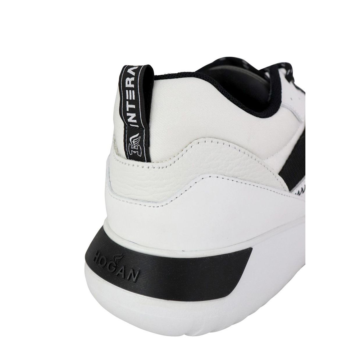 Leather and mesh sneakers with 371 bottom holes White Hogan