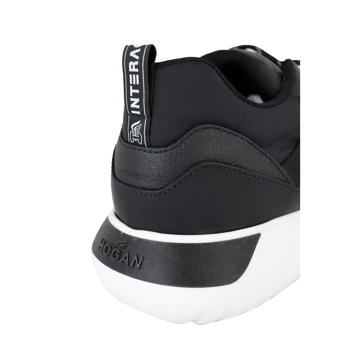 Sneakers in leather and mesh bottom 371 Black Hogan