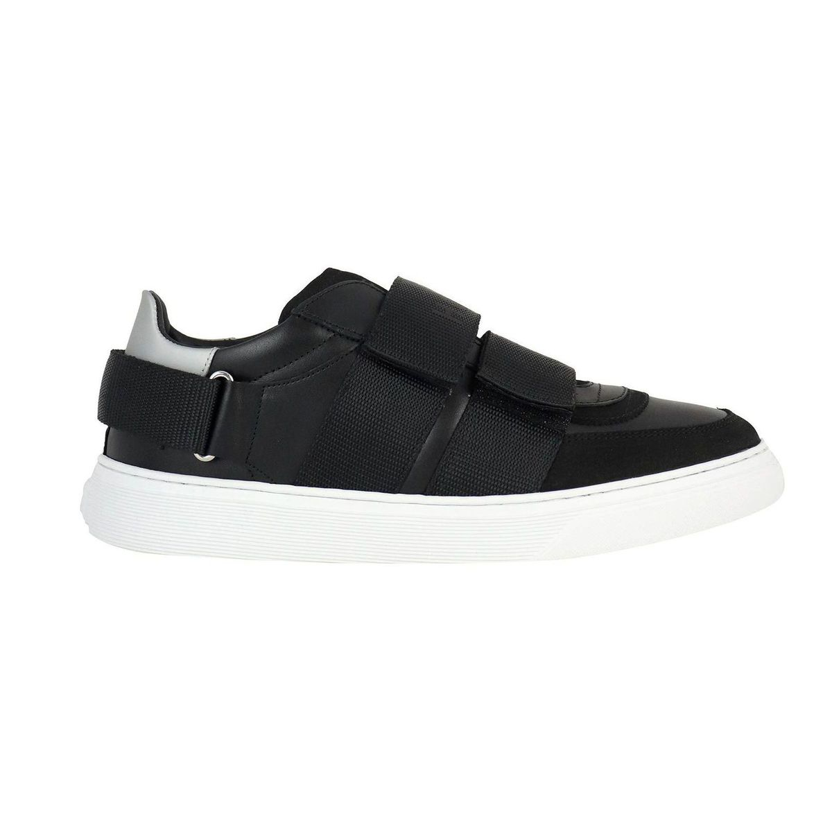 Sneakers in leather with contrasting tears on the 365 bottom Black Hogan