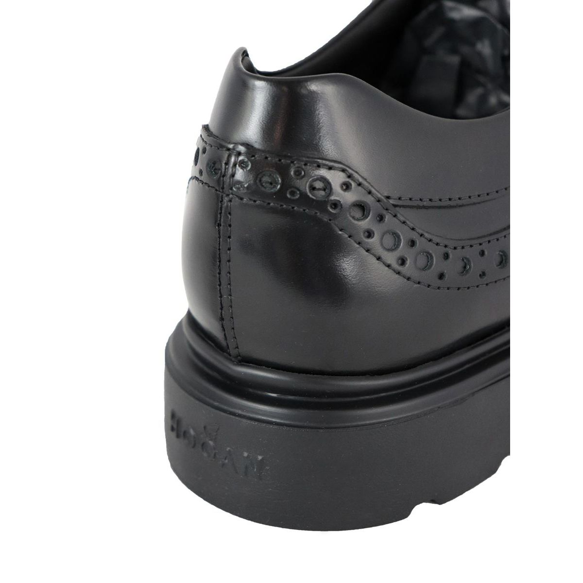 New Derby in leather bottom 393 Black Hogan