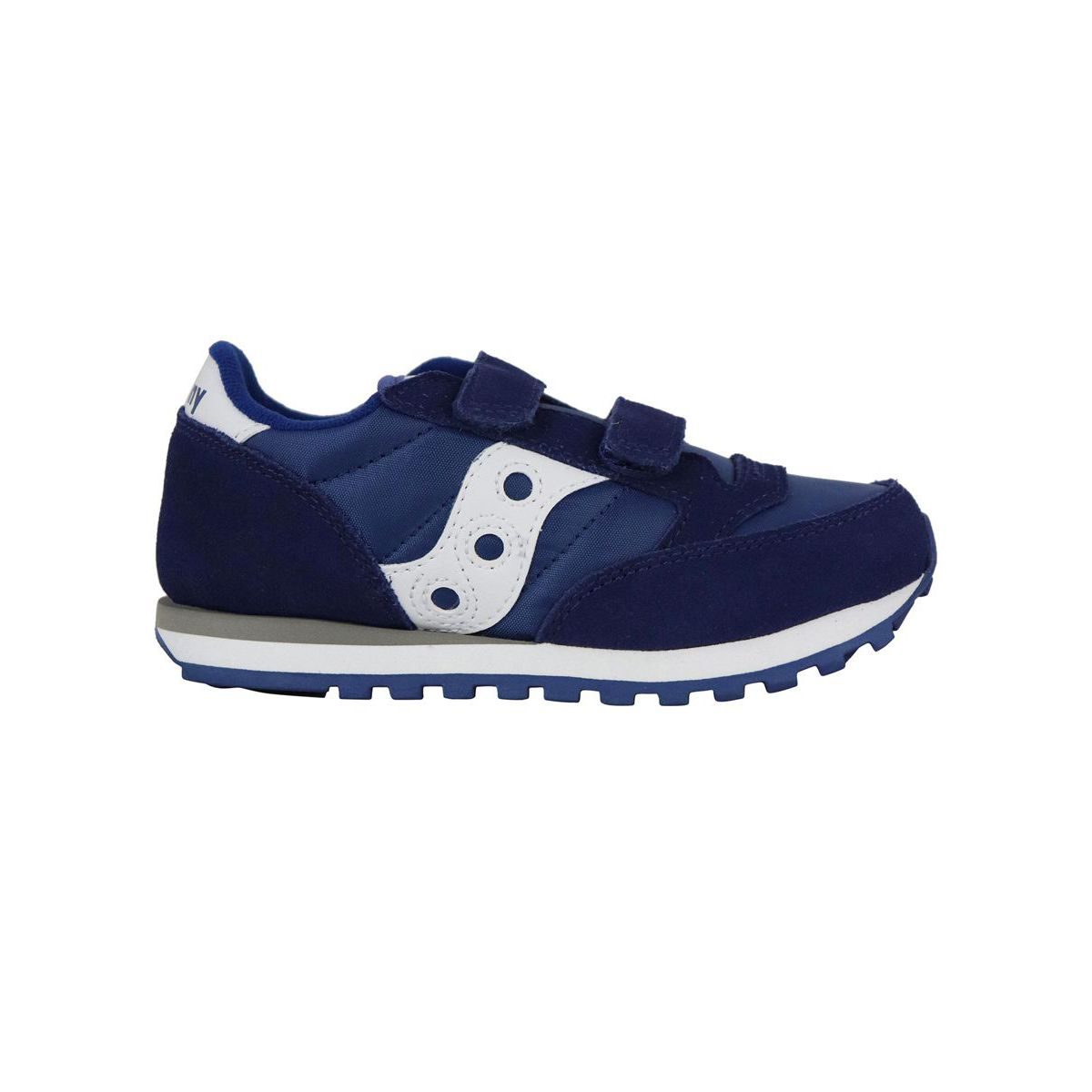 Jazz sneakers in suede with rips Blue Saucony