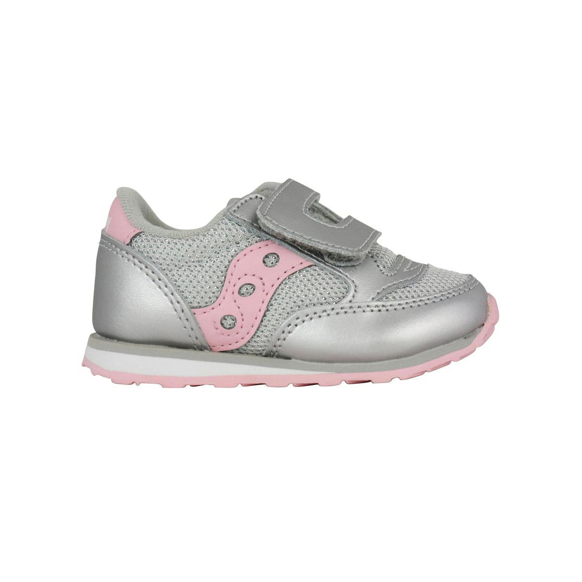 Baby Jazz sneakers in leather with tears Silver Saucony