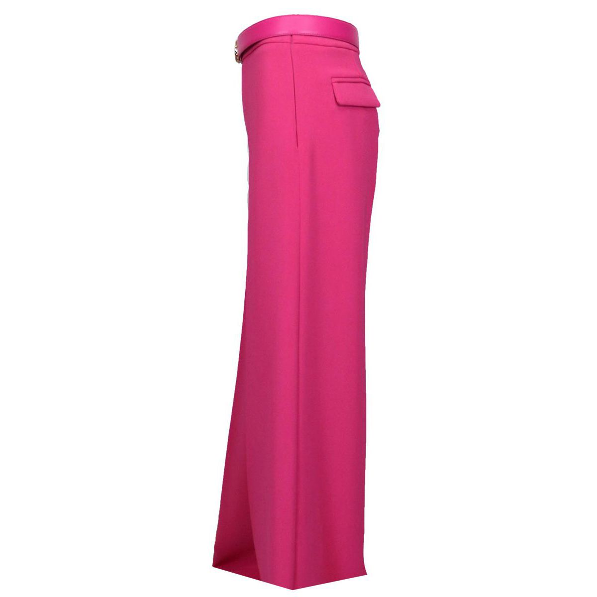 Palazzo trousers in crepe with a high waist belt Fuchsia Elisabetta Franchi