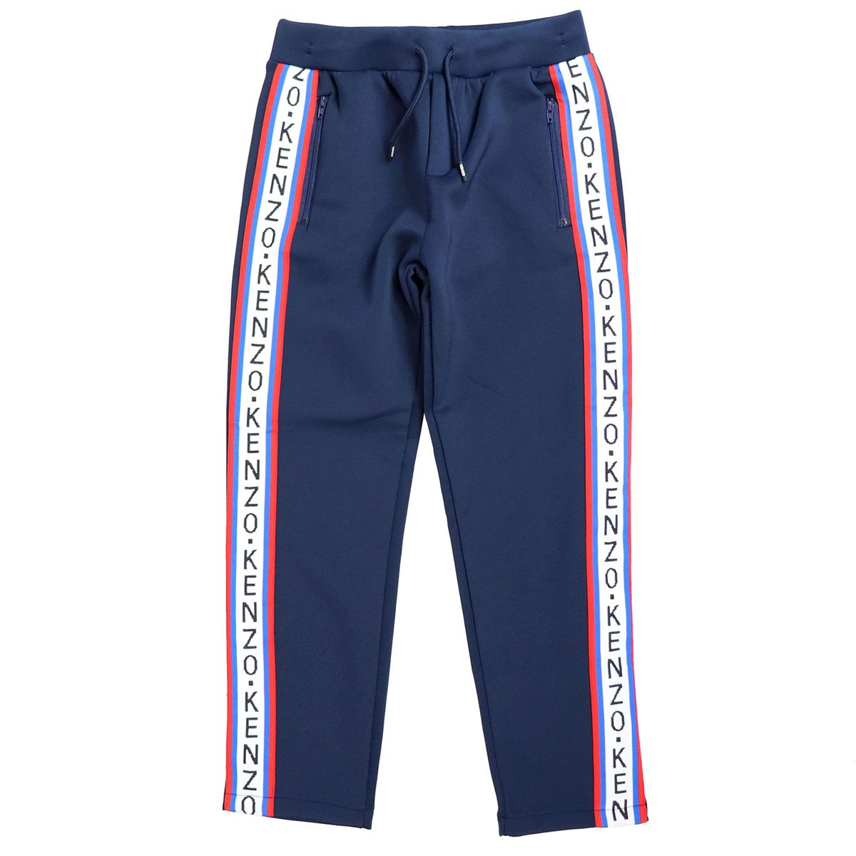 Sporty trousers with logoed side bands Blue Kenzo