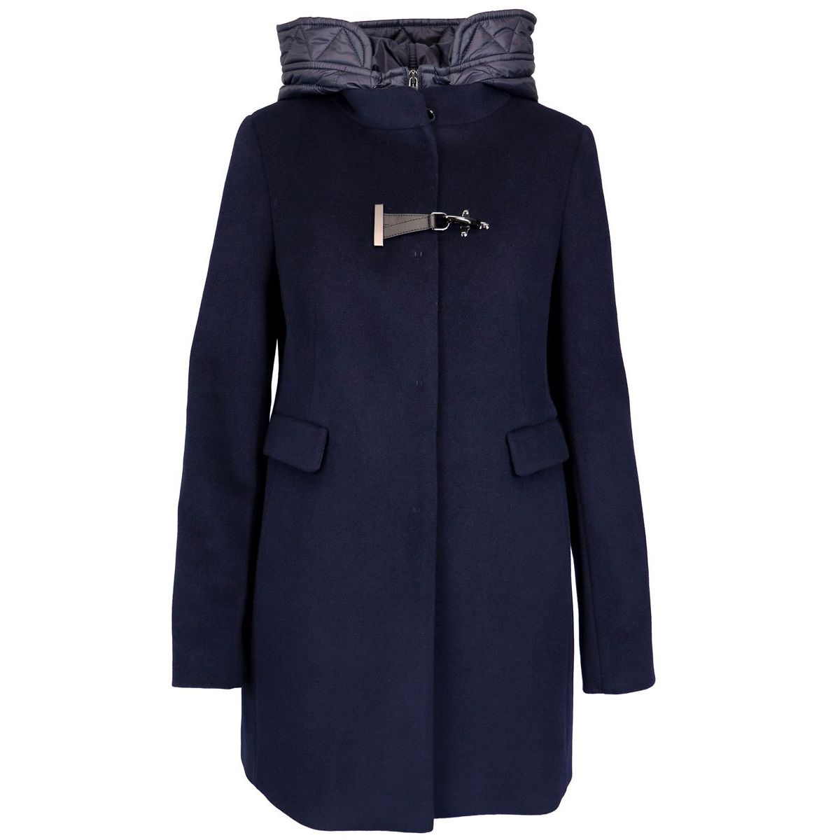 DOUBLE FRONT coat with nylon inserts Night blue Fay