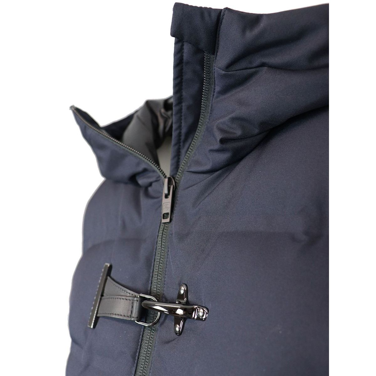 Quilted nylon quilted jacket with hood and frog Night blue Fay