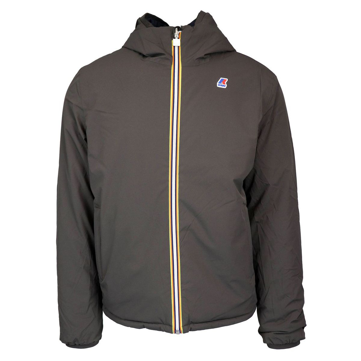 Jacques Warm Double face nylon jacket Navy brown K-Way