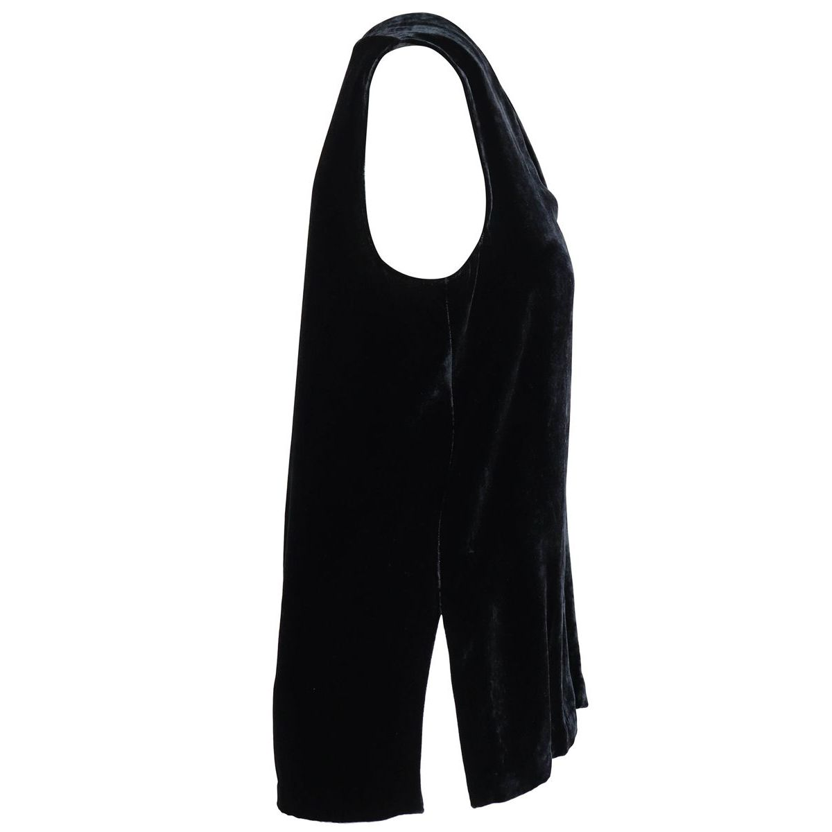 FLUID VELVET viscose and silk top Black Maliparmi